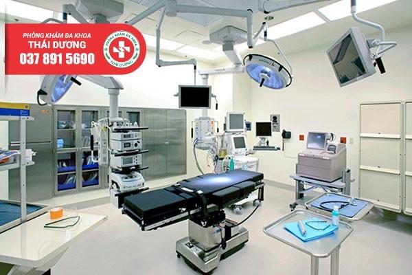 Hệ thống máy móc y tế hiện đại tại Đa khoa Thái Dương