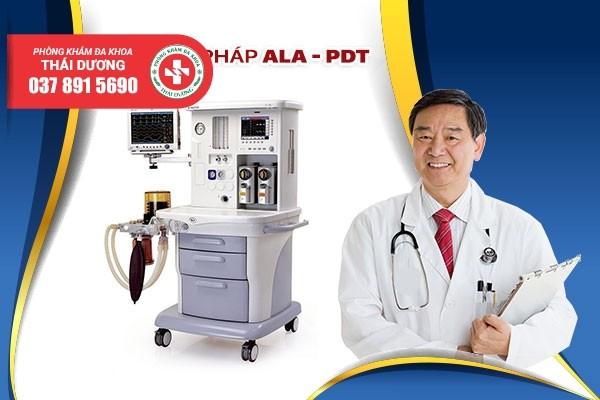Phòng Khám Thái Dương chữa sùi mào gà bằng phương pháp hiện đại ALA - PDT