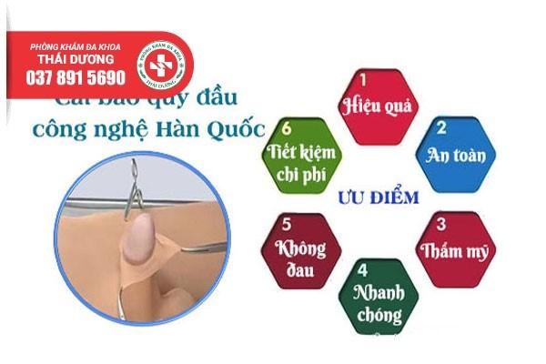 Phương pháp cắt bao quy đầu an toàn, không đau công nghệ Hàn Quốc