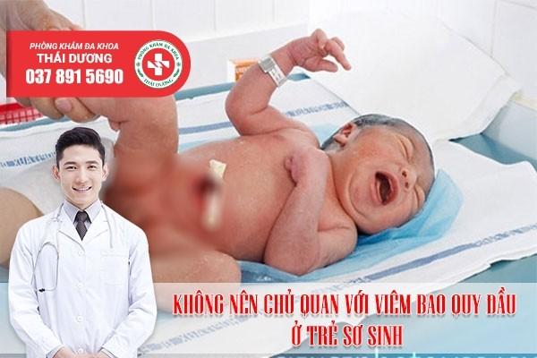 Không nên chủ quan với viêm bao quy đầu ở trẻ sơ sinh